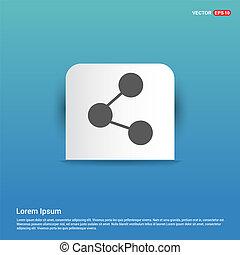 Network, share icon - Blue Sticker button