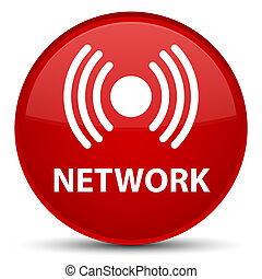 Network (signal icon) special red round button