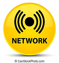 Network (signal icon) special yellow round button