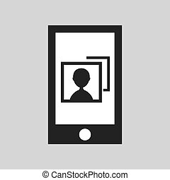 network smartphone digital image vector illustration eps 10