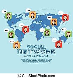 network., sociaal