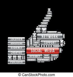 Network social media thumb up