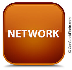 Network special brown square button