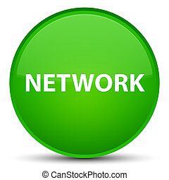 Network special green round button