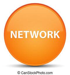 Network special orange round button