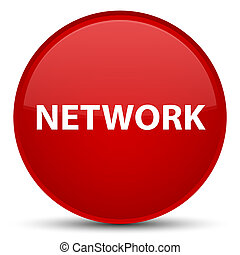 Network special red round button