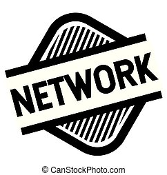 network stamp on white background . Sign, label sticker