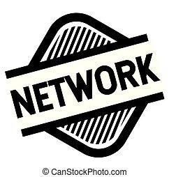 network stamp on white background . Sign, label sticker