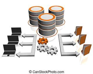 network  - 3d illustration of network