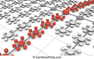 Network structure business concept background