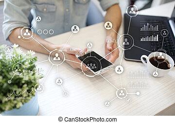 network., structure., pessoas, concept., social, media., hr., internet, organizacional