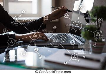 network., structure., pessoas, concept., social, media., hr., internet, organizacional, tecnologia