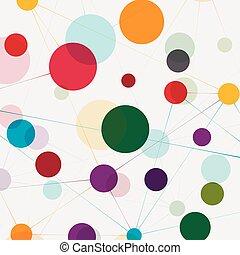 Network technology communication background