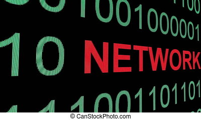 Network text on binary data