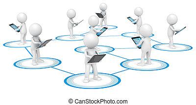 network., towarzyski