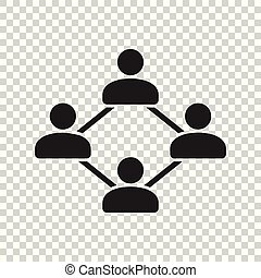 Network vector icon. People connection vector illustration.