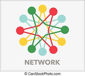 Network with nodes