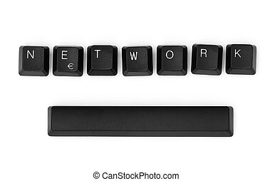 NETWORK word written on a keyboard