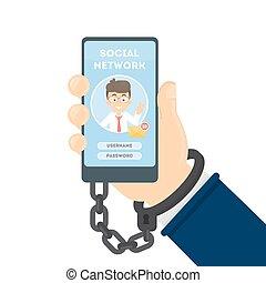 networking, addiction., social