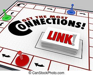 networking, adquira, conexões, maioria, jogo, link, tábua, palavras
