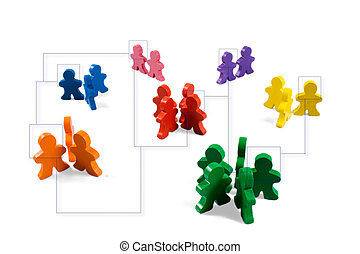 Networking - Business concepts illustrated with colorful...
