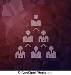 Networking business in flat style icon