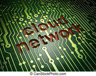 Networking concept: Cloud Network on circuit board