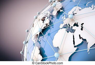 Networking concept - Networking and internet concept with ...