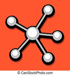 Networking Diagram Vector Icon