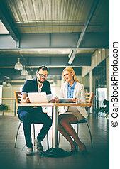 networking, em, reunião
