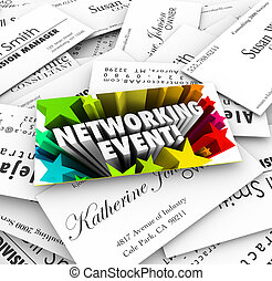 Networking Event Business Cards Mixer Contacts Meeting -...