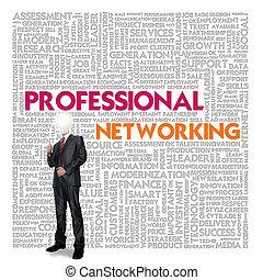 networking, financiën, handel concept, professioneel, woord,...
