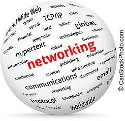 Networking globe. Vector design advertise.