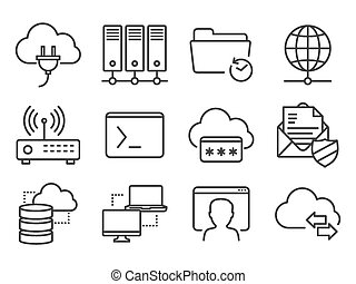 Networking icons set