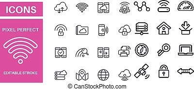 Networking Icons vector design