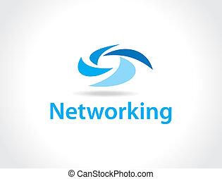 networking, logo