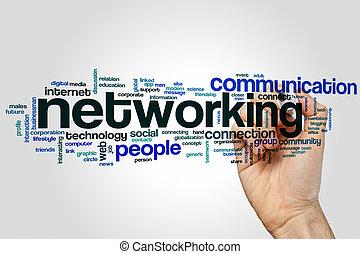 networking, parola, nuvola