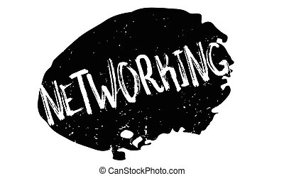 Networking rubber stamp. Grunge design with dust scratches....