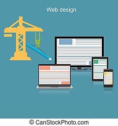 netz- design, begriff