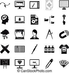 netz- design, heiligenbilder, satz, einfache , stil