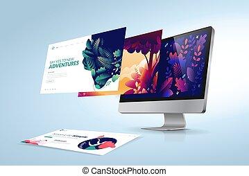 netz- design, schablone