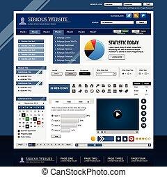 netz- design, schablone, element