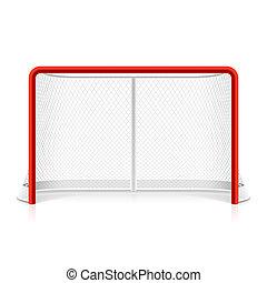 netz, hockey, eis