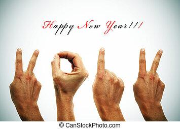neu , 2012, glücklich, jahr
