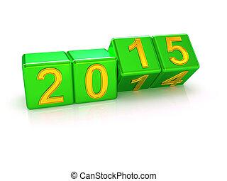 neu , 2015., glücklich, jahr