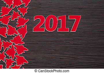 neu , 2017, glücklich, jahr