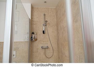 neu , badezimmer, modern, teil