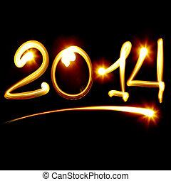 neu , glücklich, 2014, jahr