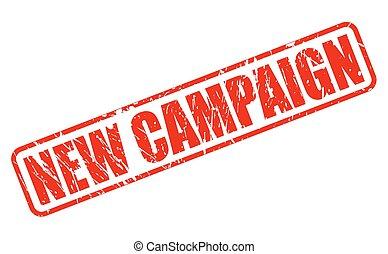 neu , kampagne, rotes , briefmarke, text