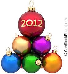 neu , kugeln, 2012, weihnachten, jahr